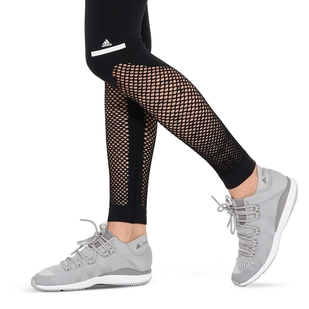 Black Seamless Mesh Leggings - ADIDAS by STELLA McCARTNEY