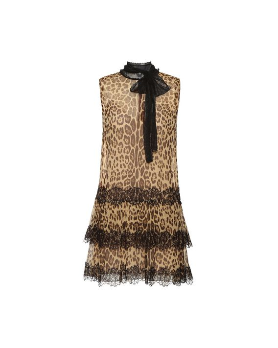dafe2f7d23f52b REDValentino LEOPARD PRINTED SILK DRESS; REDValentino LEOPARD PRINTED SILK  DRESS ...