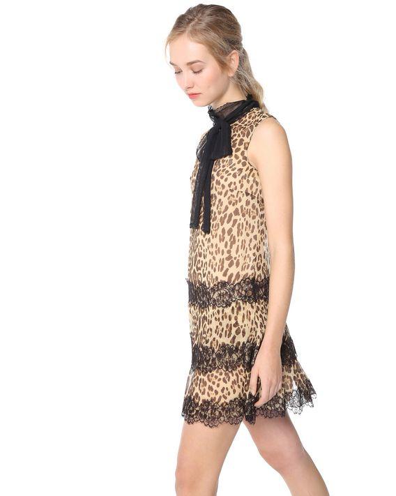 d82a71de6d1d REDValentino LEOPARD PRINTED SILK DRESS - Dress for Women ...