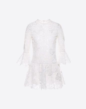 VALENTINO Embroidered Heavy Lace Dress 34710819KK