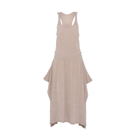 Textured Tape Sleeveless Dress