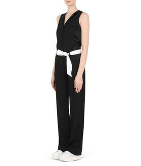 KARL LAGERFELD TAILORED CREPE JUMPSUIT