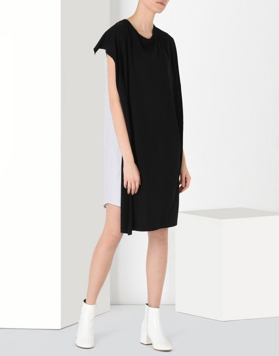 MM6 by MAISON MARGIELA Double-effect dress 3/4 length dress D r