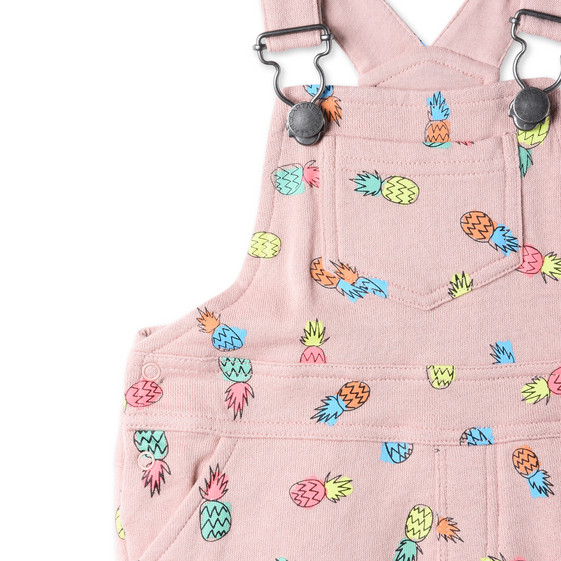 Pineapple Print Pookie Overalls