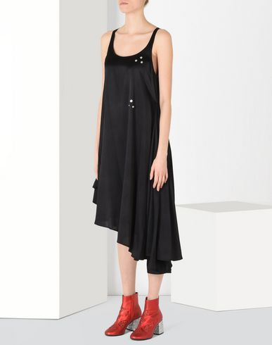 MM6 by MAISON MARGIELA Fluid dress with draped effect 3/4 length dress D f