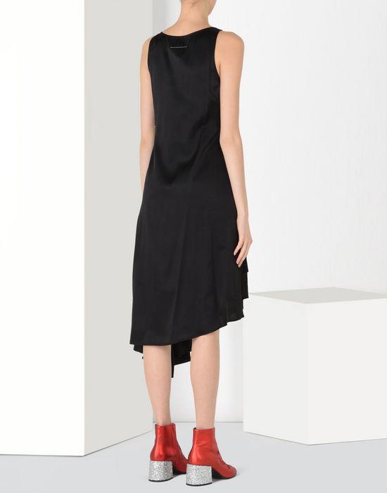 MM6 by MAISON MARGIELA Fluid dress with draped effect 3/4 length dress D d