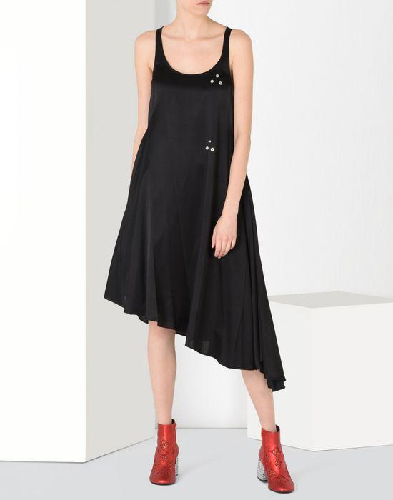 MM6 MAISON MARGIELA Fluid dress with draped effect 3/4 length dress Woman r