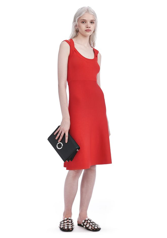 T by ALEXANDER WANG knitwear-t-by-alexander-wang-woman DOUBLE STRAP DRESS