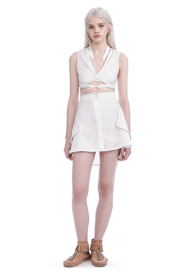 ALEXANDER WANG new-arrivals-ready-to-wear-woman EXCLUSIVE DECONSTRUCTED SHIRT DRESS