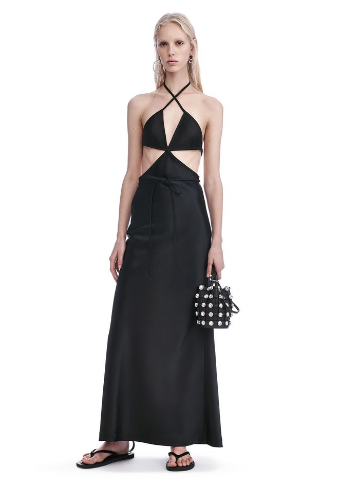 ALEXANDER WANG exclusives EXCLUSIVE FULL-LENGTH BIKINI COLUMN GOWN