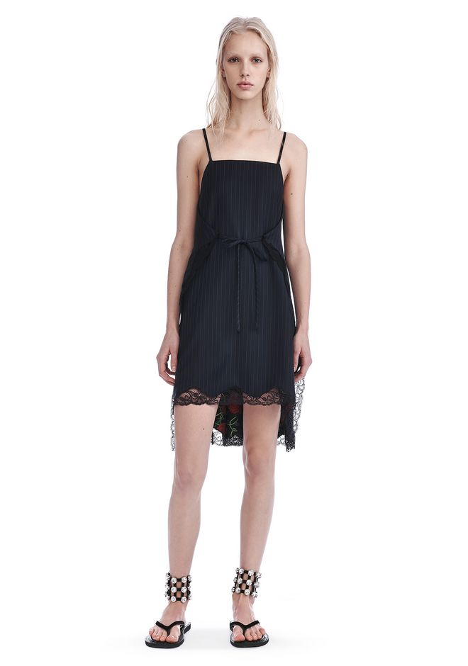 ALEXANDER WANG Long dresses PINSTRIPE A-LINE APRON DRESS