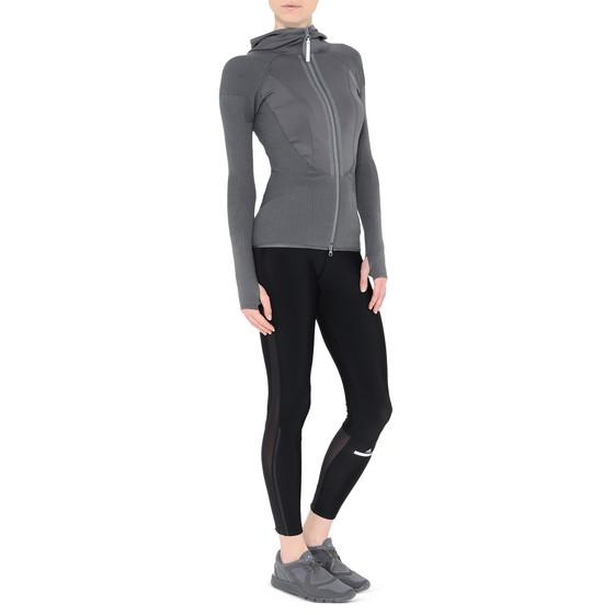 Grey Run knit long sleeve top
