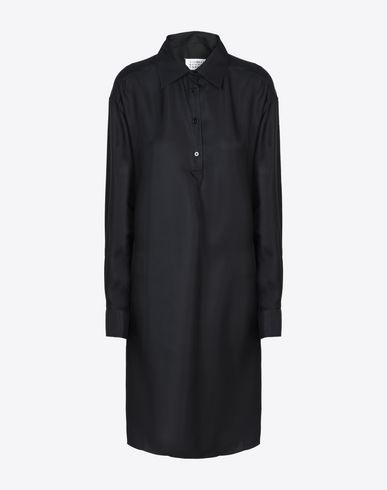 MAISON MARGIELA 4 Short dress D Silk shirt dress f