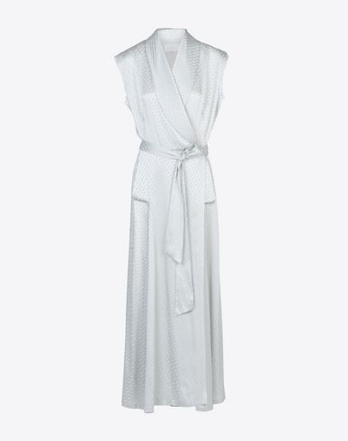 MAISON MARGIELA Wrap-around robe dress Long dress D f