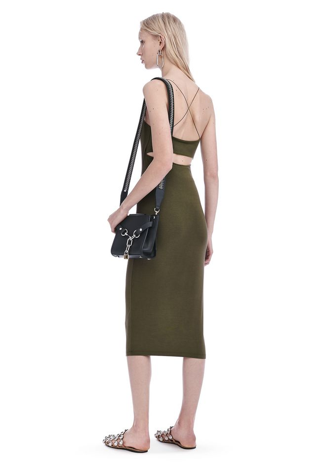 T by ALEXANDER WANG new-arrivals-t-by-alexander-wang-woman MODAL CUT OUT CAMI DRESS