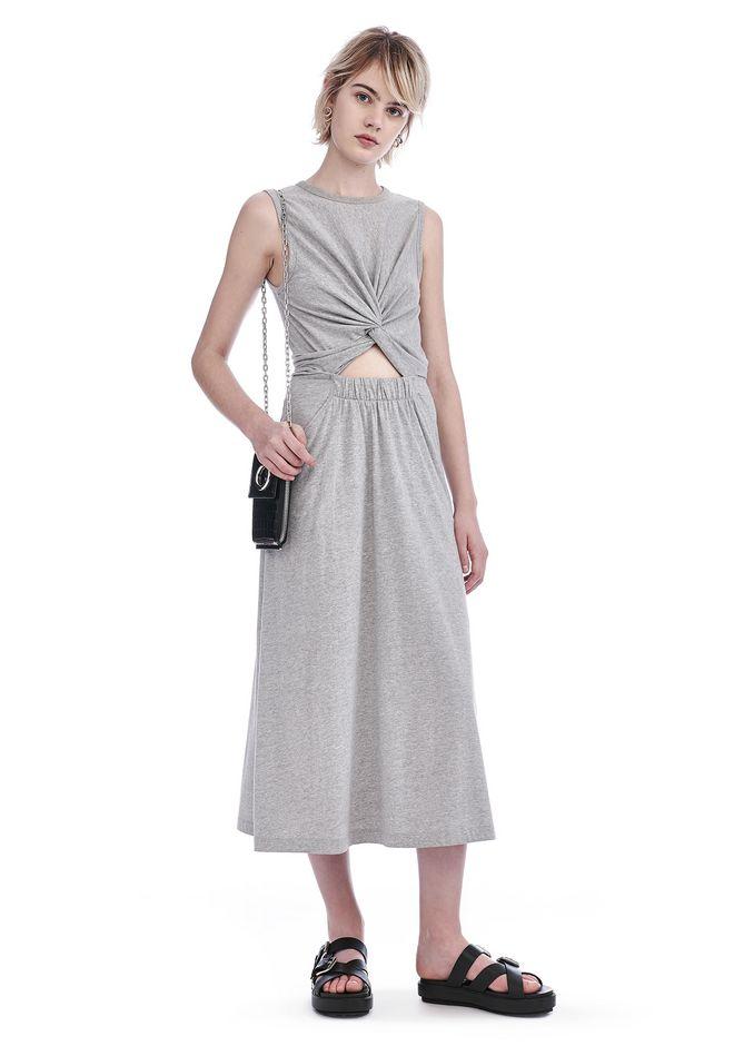 T by ALEXANDER WANG Long dresses Women FRONT TWIST SLEEVELESS MIDI DRESS