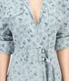 BOTTEGA VENETA DRESS IN LIGHT AIR FORCE BLUE PRINTED LINEN Dress Woman ap