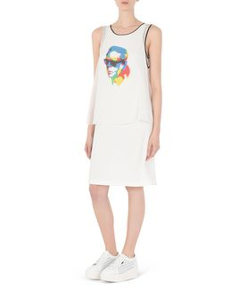 KARL LAGERFELD DOUBLE LAYER DRESS