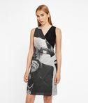 Photo Print Wrap Dress
