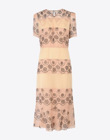 MAISON MARGIELA Long dress D Printed silk georgette dress f