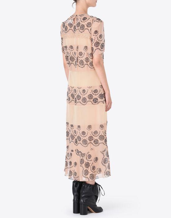 MAISON MARGIELA プリント シルクジョーゼット ドレス ロングワンピース・ドレス D e
