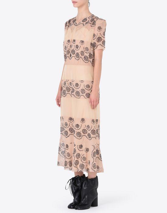 MAISON MARGIELA プリント シルクジョーゼット ドレス ロングワンピース・ドレス D r