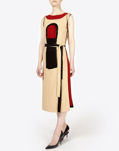 MAISON MARGIELA 3/4 length dress D Layered silk dress f