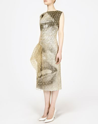 MAISON MARGIELA 3/4 length dress D Layered printed dress f