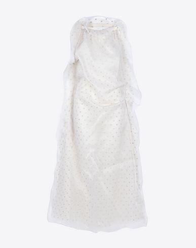 MAISON MARGIELA Ruffled silk organza dress  Long dress D f