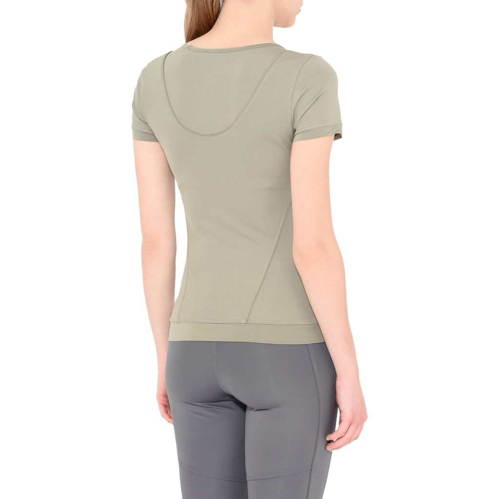 Ash Green Performance T-shirt  - ADIDAS by STELLA McCARTNEY