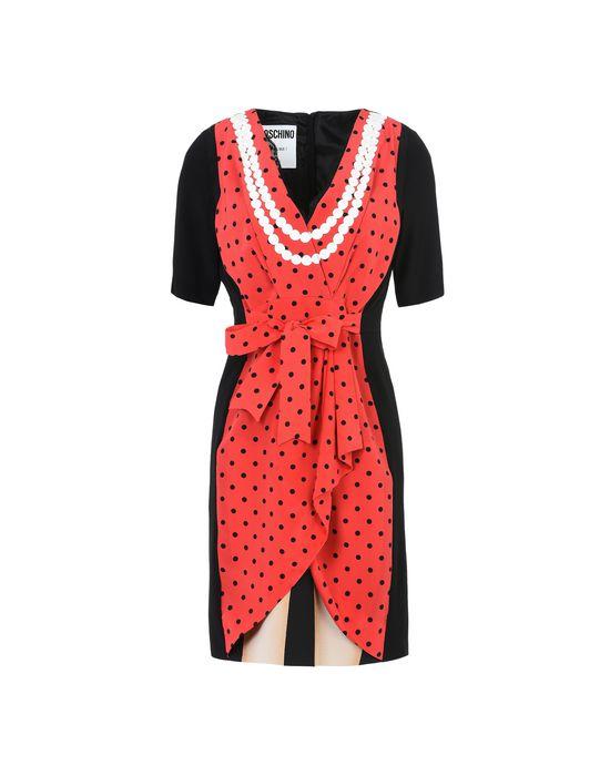 Lace-Trimmed Printed Silk Crepe De Chine Mini Dress, Black