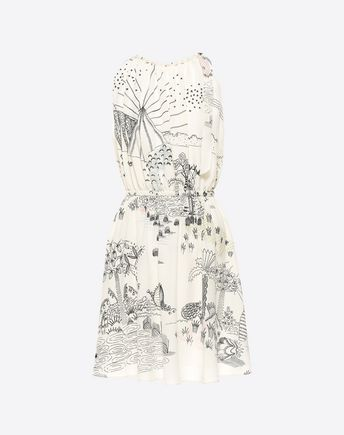 VALENTINO Printed crêpe-de-chine dress  34734875KK