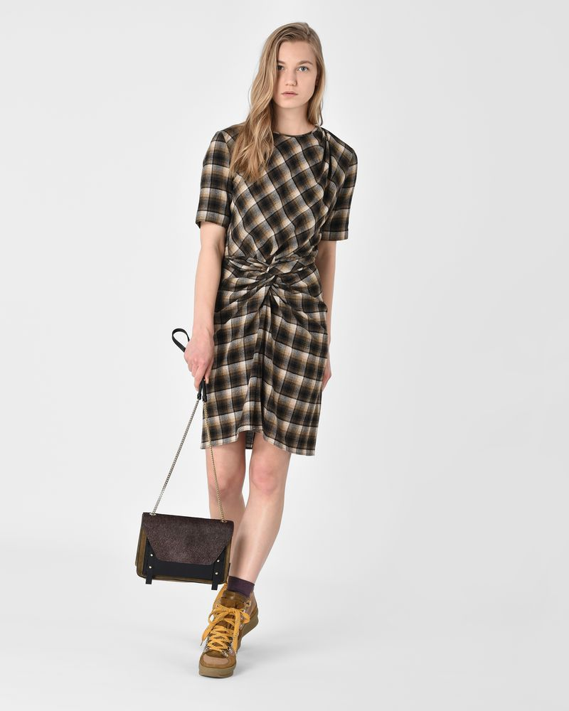 Pardena Knotted effect draped check mini dress ISABEL MARANT ÉTOILE