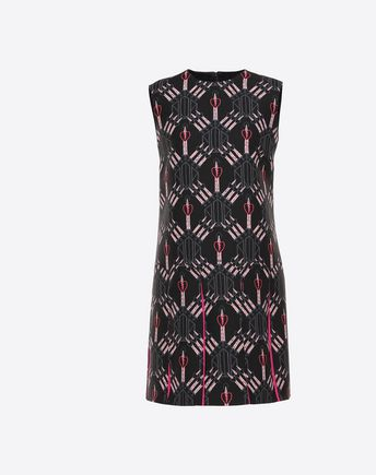 VALENTINO Printed crêpe couture dress  34736686AX