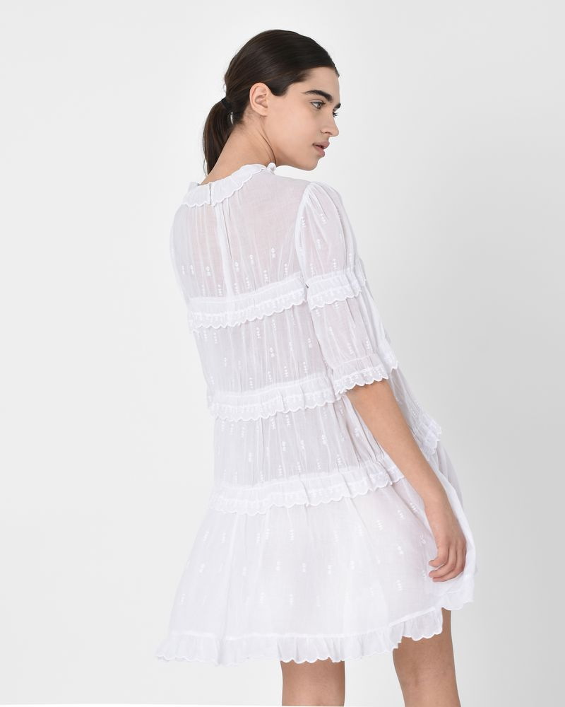 f0c94795344 ... Lyin Cotton voile ruffle mini dress ISABEL MARANT ÉTOILE ...