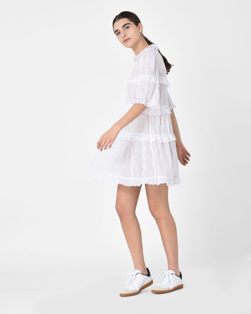 a9398f1092da ... Lyin Cotton voile ruffle mini dress ISABEL MARANT ÉTOILE ...