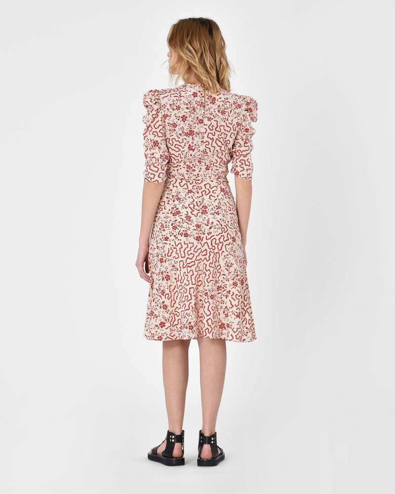 Gresham Short sleeve swing dress in printed silk ISABEL MARANT