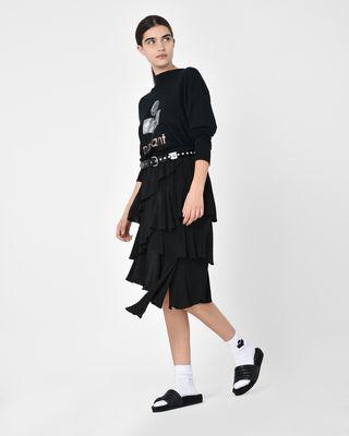 ISABEL MARANT ÉTOILE MIDI SKIRT Woman Weez Asymmetric ruffle cupro skirt r