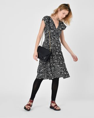 ISABEL MARANT SHORT DRESS D Glory Sleeveless swing dress in printed silk r