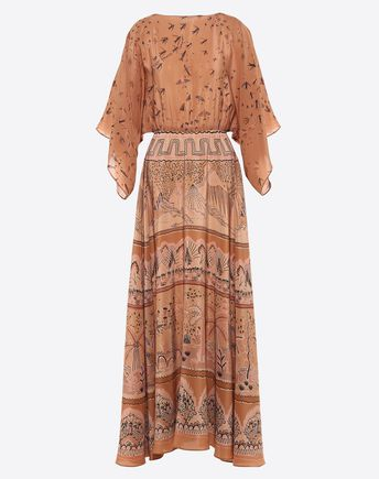 VALENTINO Printed crêpe-de-chine dress  34738417WV