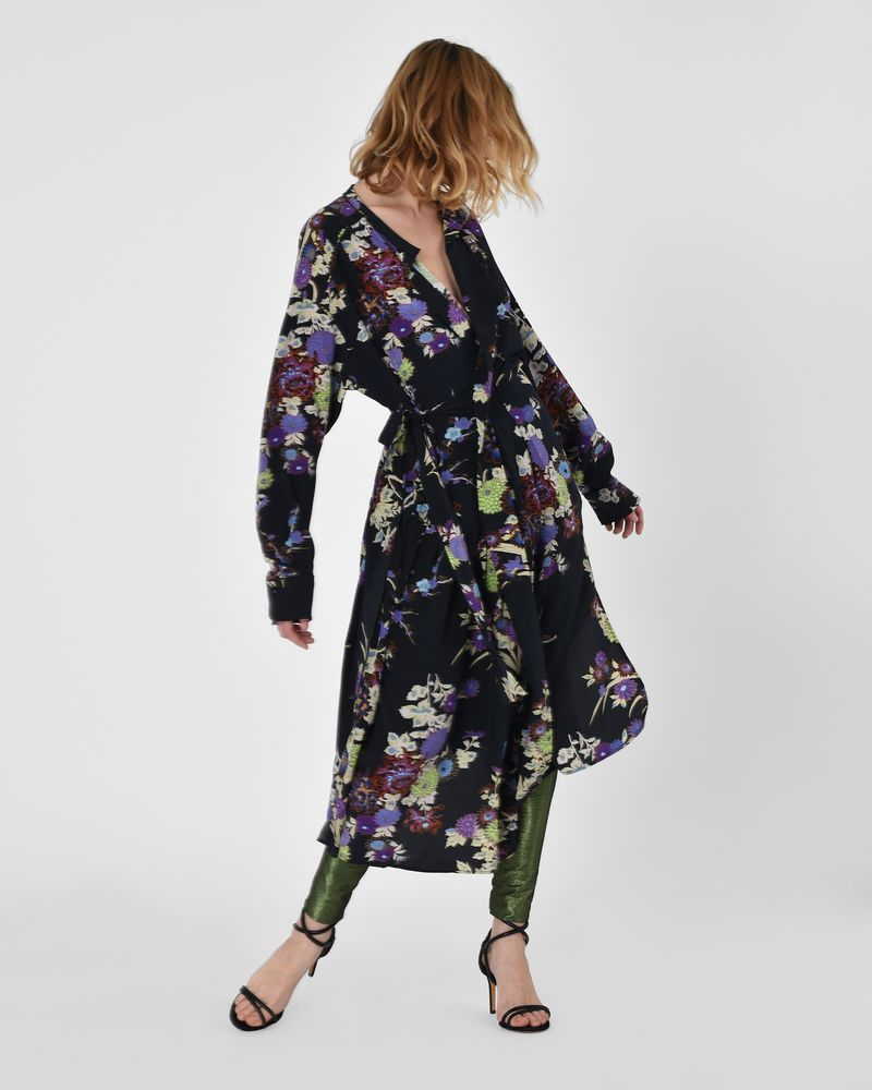 Iam Asymmetric silk crepe de chine midi dress in floral print  ISABEL MARANT