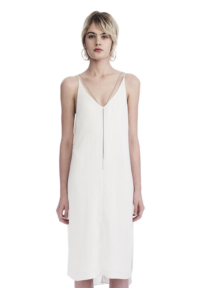 T by ALEXANDER WANG Short Dresses SLEEVELESS DRESS WITH CHAIN DETAIL