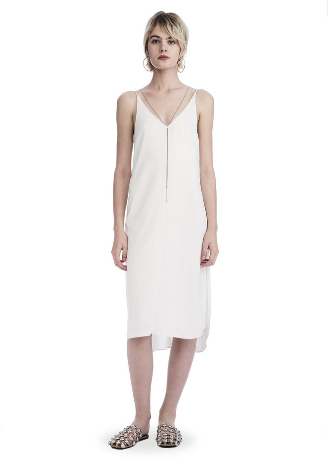 T by ALEXANDER WANG Short Dresses Women SLEEVELESS DRESS WITH CHAIN DETAIL