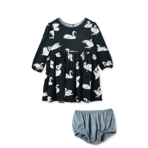 Fleur Swan Print Dress