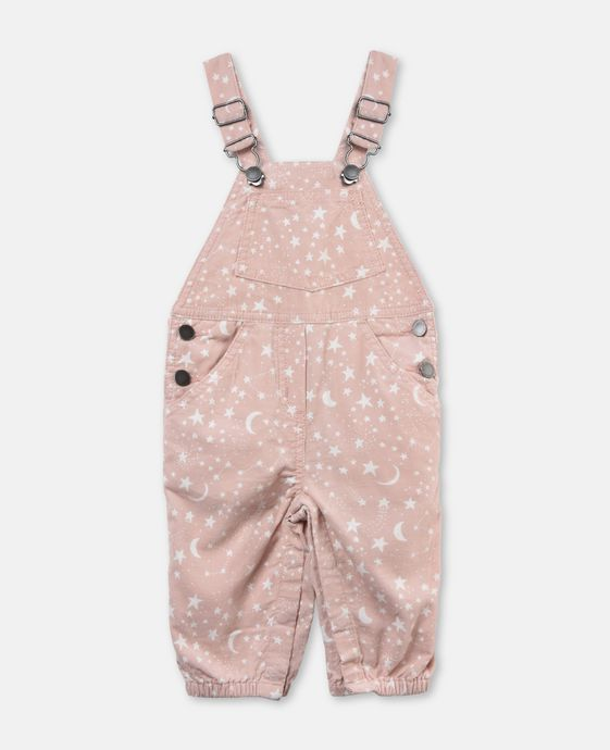 Olive Pink Overalls
