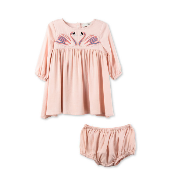 Leonilla Pink Swan Patch Dress