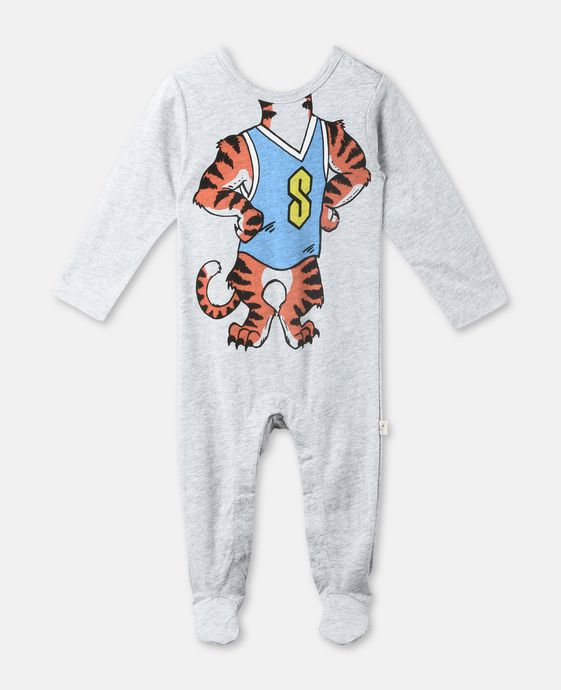 Twiddle Grey Tiger Print Babygrow