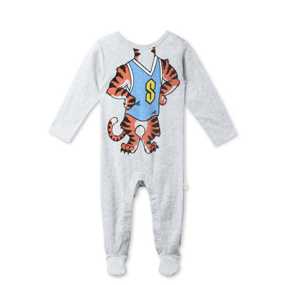 Twiddle Grey Tiger Print Babygrow