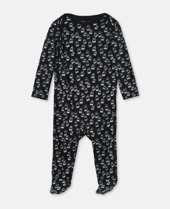GLOW IN THE DARK l Rufus Ghost Print Babygrow