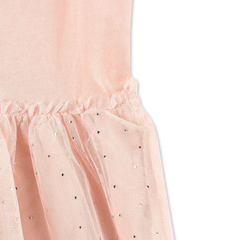 Robe Primrose rose avec motif patins - STELLA MCCARTNEY KIDS